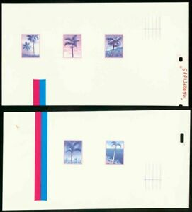 Mauritius 1984 Palm Trees glossy MASTER PROOF SHEETS
