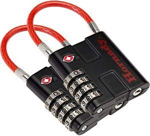 Hornady TSA Approved Cable PadLocks 2pk, 96022 - All Metal cable padlock