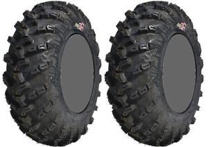 Pair 2 GBC Grim Reaper 25x8-12 ATV Tire Set 25x8x12 25-8-12