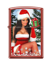 "Merry Christmas ""Christmas Girl"" Zippo Lighter - Red Matte - FREE SHIPPING!"