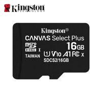 Nouveau Kingston 16Go MicroSD SDHC C10 Cartes Mémoire TF 100MB/s avec Adapteur