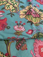 Bright Colors Aqua Pink Pottery Barn Floral Twin Pillow Sham Set Cotton