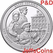 2017 P&D Ellis Island Liberty Park Quarter New Jersey U.S.Low Cost $1.59 PD ATB