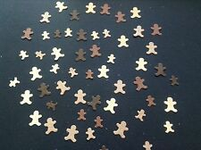 100 mini gingerbread men die cuts in shades of brown