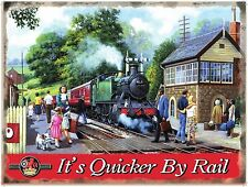 Country Stop, Steam Train, British Railway Engine, Classic, Large Metal/Tin Sign