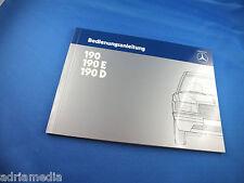 Origin. Mercedes Benz W201 190 E 190 D Betriebsanleitung Bedienungsanleitung Neu
