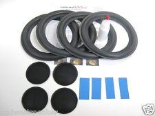 "JBL LX66 8"" Woofer Refoam Kit - Speaker Foam Repair - 4 Surrounds w/ Dust Caps!"
