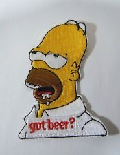 """HOMER SIMPSON - Got Beer? - Embroidered Iron-On Patch - 3"""""""