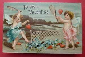 Feb 17,1908 Valentine's Day postcard ''To My Valentine'' from Springfield, MA
