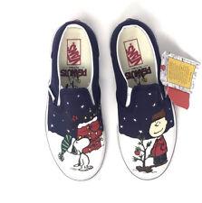 Vans Peanuts Christmas Charlie Tree Toddler Classic Slip on Shoes 5 New NIB