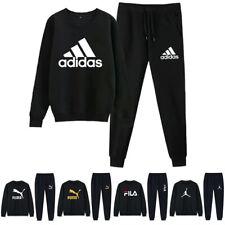 2Pcs Jogging Sportanzug Hoodie + Hose Sweatshirt Pullover Herren Trainingsanzug