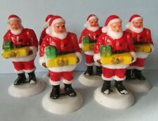 FAB RARE VINTAGE RETRO KITSCH SANTA CLAUS FATHER CHRISTMAS CAKE DECORATION LOT