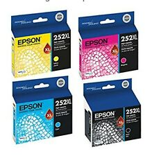 New In Box, Epson 252XL X 4, Black, C/M/Y High Capacity Ink Cart. Retail $141.