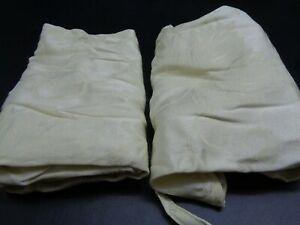 Autumn Vine Seat Covers In Ivory Damask (Set Of 2) (D48-1386)
