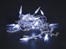 Konstsmide LED Dekolichterkette mit Kristallmotiven Lichterkette 20 LED 190cm