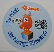 Aufkleber Q*bert Parker Videospiele ATARI VCS Commodore C64 G7000 80er Sticker