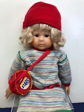 """20"""" Vinyl Corolle Les Poupees French Doll 1981 Blonde W/ Red Backpack Refabert"""