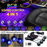 USB Car LED Atmosphere Lamp Sound Control Interior Ambient Star Projector Light