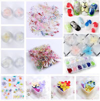 10 Mixed Colors Dried Flowers Nail Art DIY Glass Bottle Decoration Manicure DIY