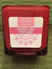 Yankee Candle Square Snowflake Cupcake Scent 8.75oz 2 wicks Square Glass Jar New