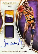 2015-16 Immaculate Dual Patch Autographs #DPAJWO James Worthy Auto /31