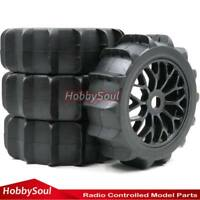 4Stück RC 1/8 Paddle Reifen Tires Hex 17mm Felge für RC 1:8 Off Road Buggy Car