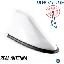 Antenna Auto a PINNA DI SQUALO Bianca Universale VERA Ricezione RADIO AM-FM-DAB+