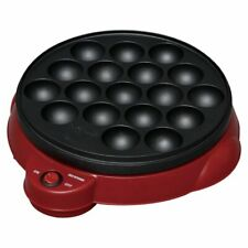 Takoyaki Red Grill from Iris Ohyama - Ball Shaped Japanese Cooker - Japan Import