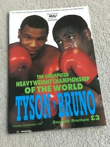 1989 Mike Tyson v Frank Bruno Closed Circuit Souvenor Brochure, World Champ'ship
