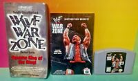 WWF War Zone Game, Guide + Manual  - Authentic Nintendo 64 Rare Game N64 Tested