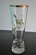 Superbe ancien verre émaillé - Old glass - GLAS EMAILLIERT - Monogrammé