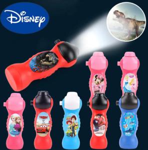 Disney Projection Flashlight Torch Dinosaur Cars Toy Story Frozen Princess Gift