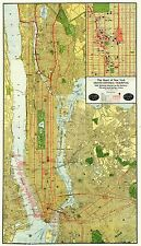 MAP  1918 RAND McNALLY GRAND CENTRAL TERMINAL NEW YORK REPLICA PRINT PAM2026