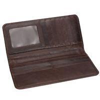 Men's Long Wallet Slimline Bifold Vintage Minimal PU Leather Card Holder
