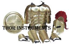 Medieval Roman King Leonidas 300 Spartan Helmet W/Red Plume,Shield,leg