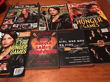 7 pc Hunger Games lot 4 magazines 3 books US People Entertainment Movie Magic