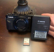 Canon PowerShot G7X Mark II Digital Camera - With Tri Pod And 64 GB Memory Card