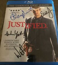 Justified Season One Blu-ray Signed Autograph Timothy Olyphant Walton Goggins x4