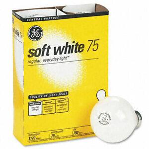NEW GE 41032-48 75-Watt A19 Soft White 4 Bulbs Per Pack