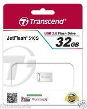 32gb USB STICK Transcend  ca.22mm Mini Micro 32GB Nano Fortuna Trade TS32GJF510S