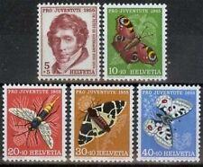 Schweiz MiNr. 618/22 **, Schmetterlinge, Tiere