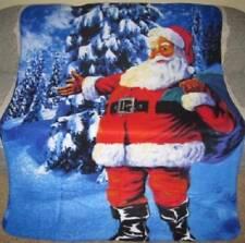 New Santa Claus Soft Fleece Throw Blanket Christmas Holiday Decor Gift St. Nick
