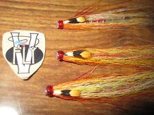 3 V Fly 1 1/4 Inch White Wing Spring Willie Gunn Salmon Tube Flies & Trebles
