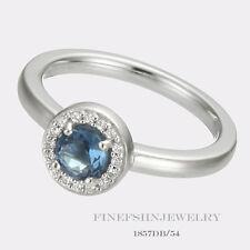 Authentic Ti Sento Milano Silver Dark Blue CZ Ring Size 7.5 Euro 56 1857DB/56