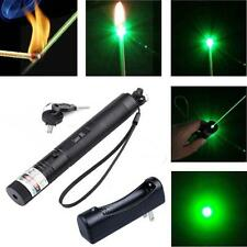 Green Laser Pointer Pen 5mW 532nm Burning Lazer Zoomable Visible Beam+Charger MT