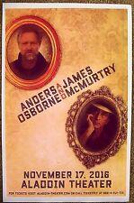 Anders Osborne & James McMurtry 2016 Gig Poster Portland Oregon Concert