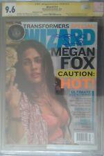 Wizard #213 Megan Fox Transformers cover__CGC 9.6 SS__Signed by Megan Fox