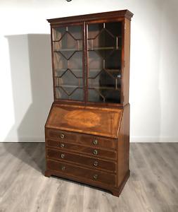 Exclusive High Quality Victorian Mahogany Bureau Bookcase Circa 1870