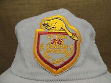 CP Rail London Corderoy  Truckers Hat Cap Grey Beaver Logo