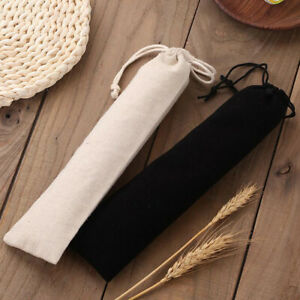 Thicken Pouch Bag Resuable Straw Carrying Bag Straws Case